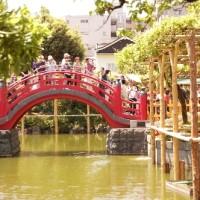 亀戸天神さまの太鼓橋